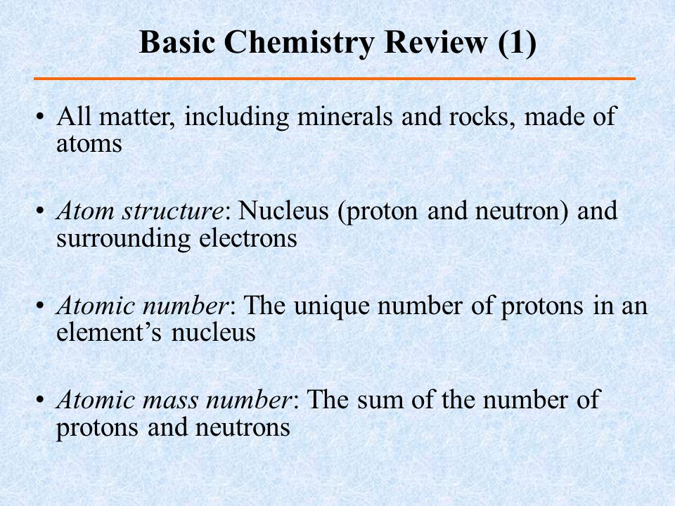 Basic Chemistry Review (1)