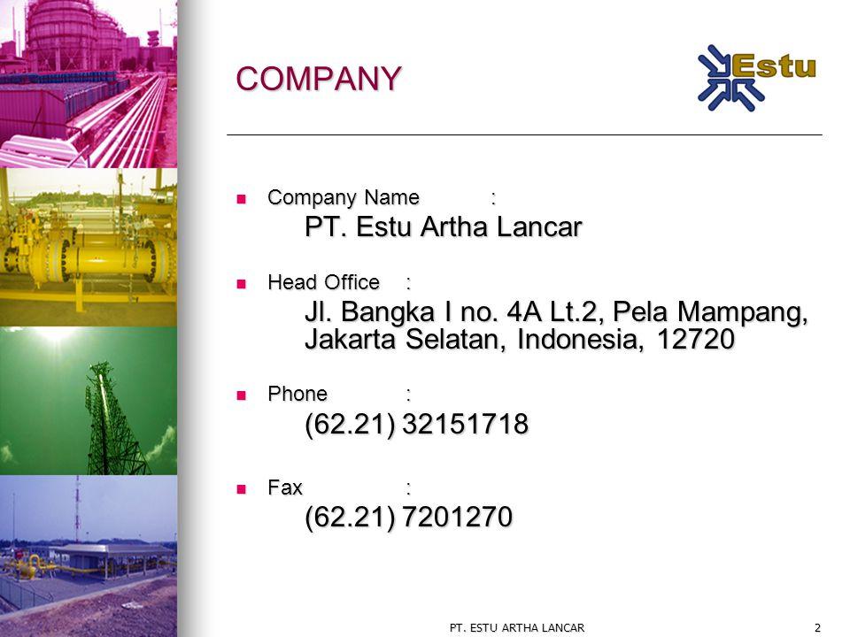 COMPANY PT. Estu Artha Lancar