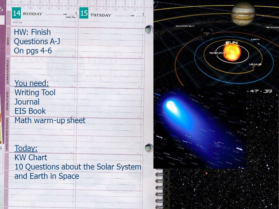 10 Questions about the Solar System and Earth in Space