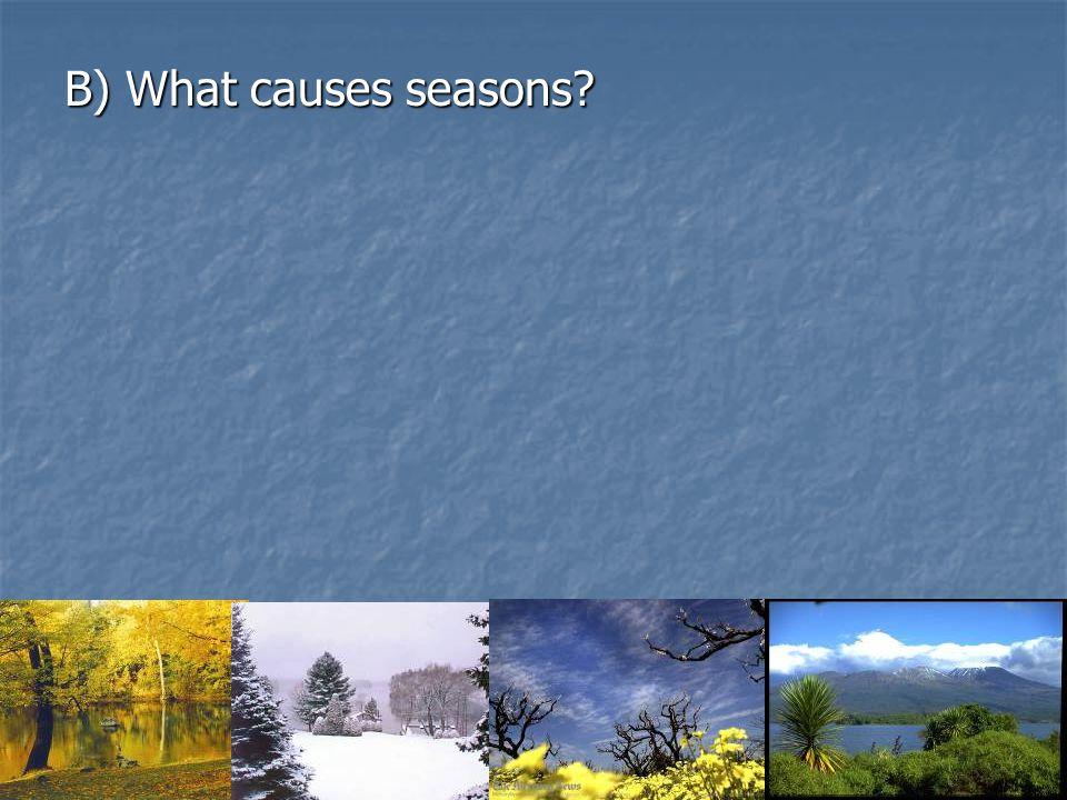 B) What causes seasons