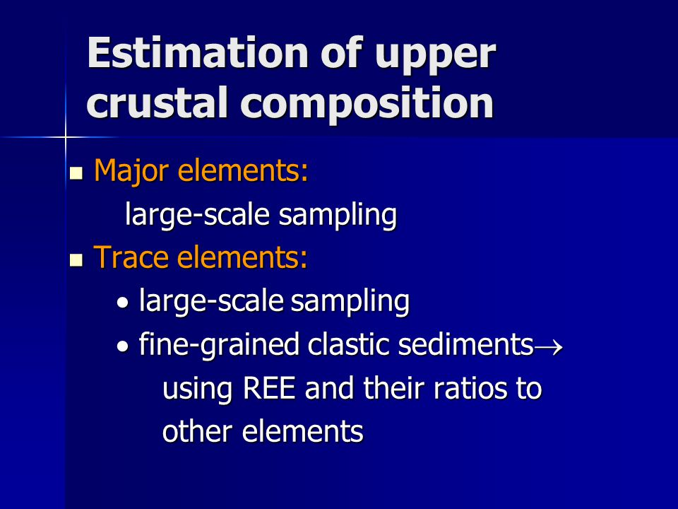 Estimation of upper crustal composition