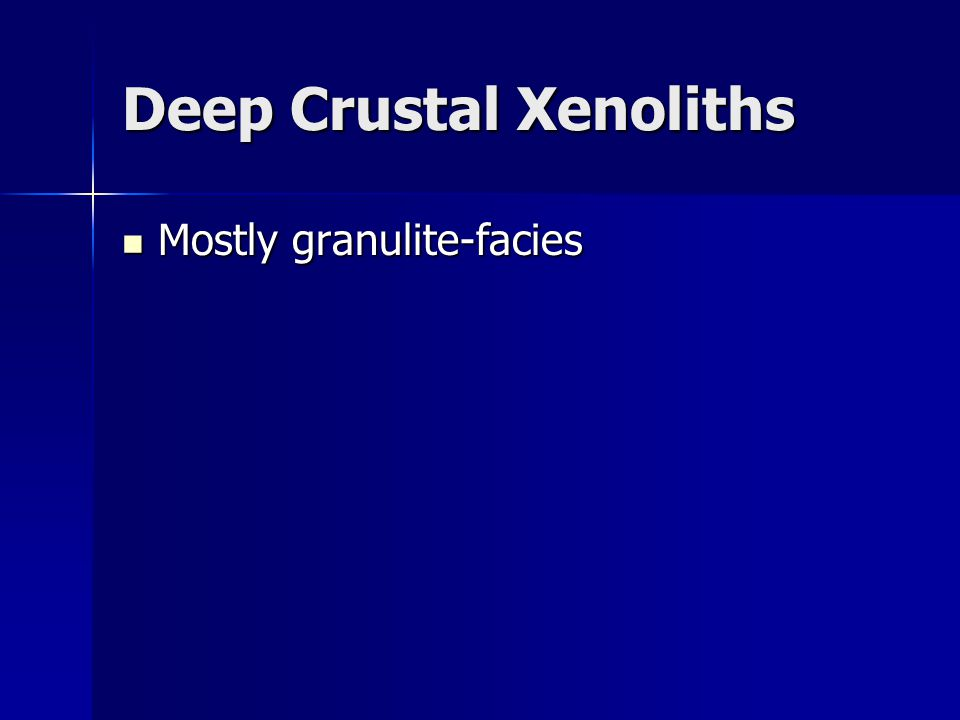 Deep Crustal Xenoliths