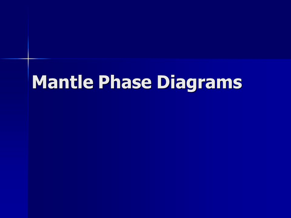 Mantle Phase Diagrams