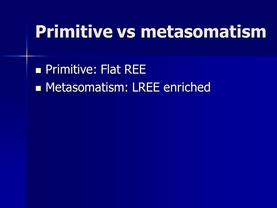 Primitive vs metasomatism