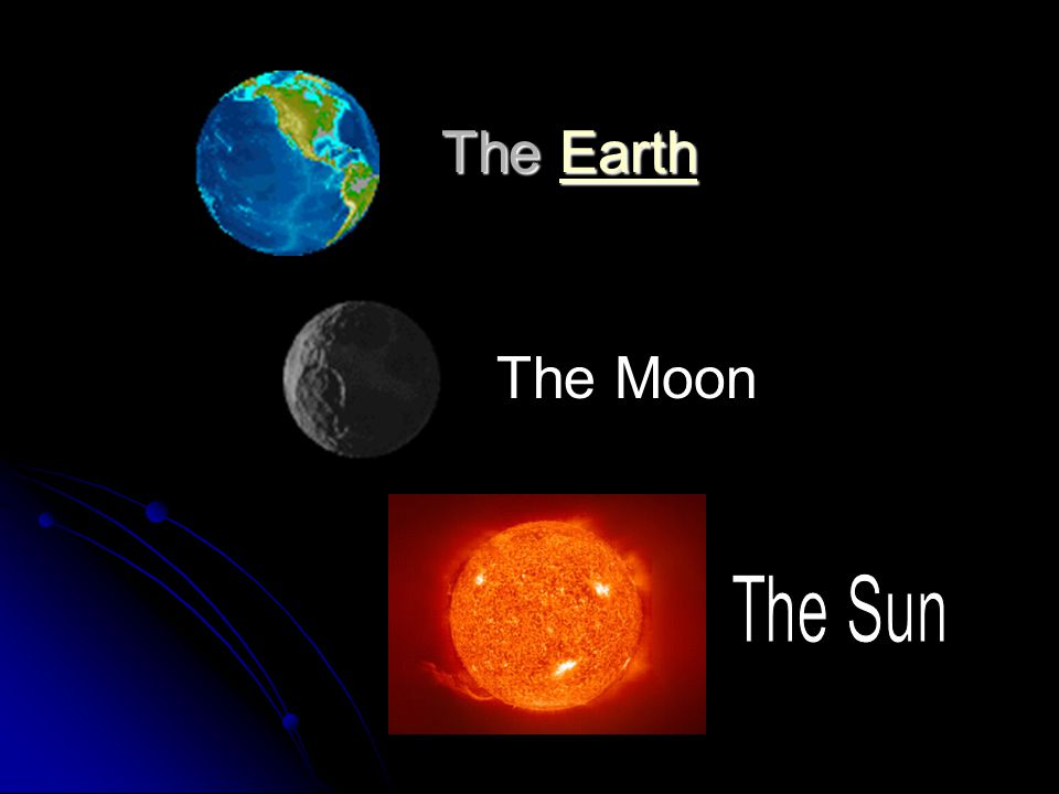 The Earth The Moon The Sun