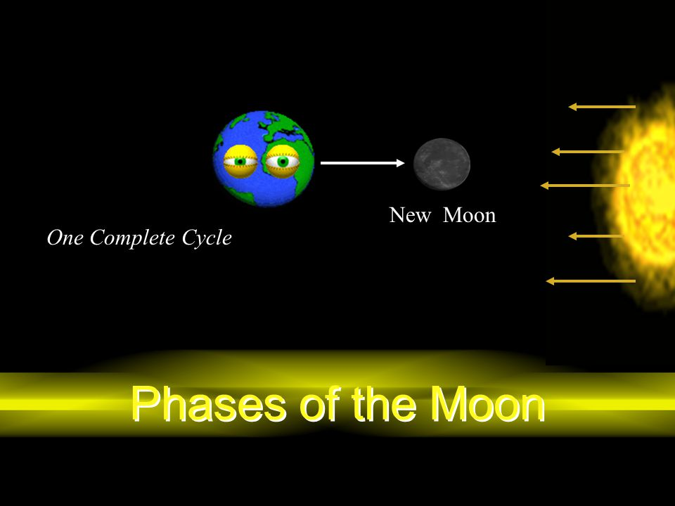 Phases of the Moon New Moon One Complete Cycle