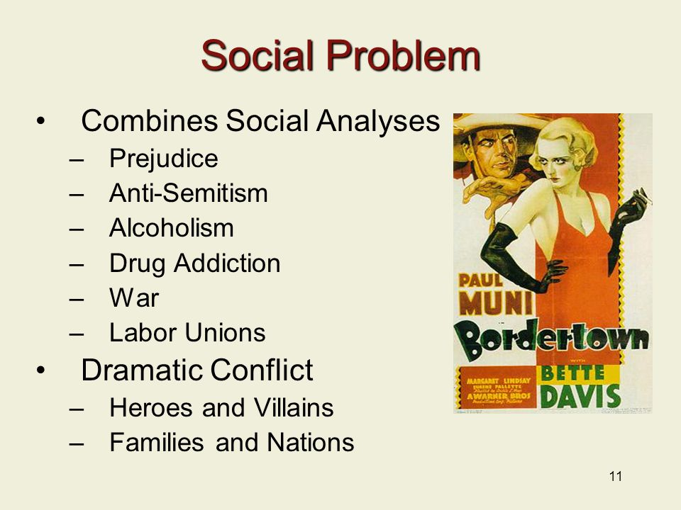 Social Problem Combines Social Analyses Dramatic Conflict Prejudice