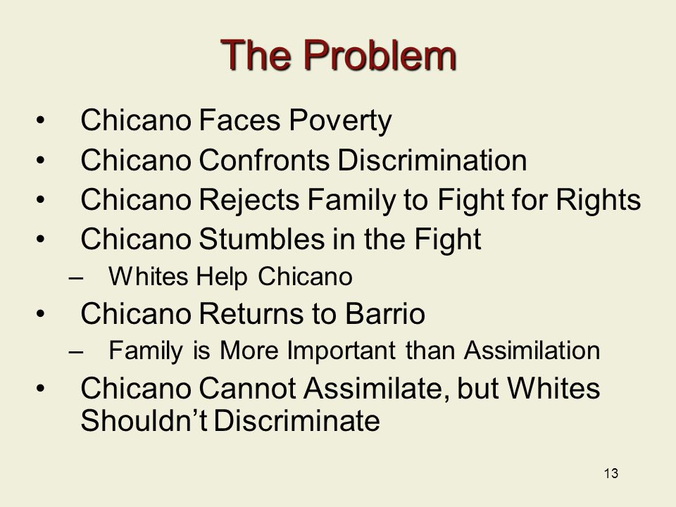 The Problem Chicano Faces Poverty Chicano Confronts Discrimination