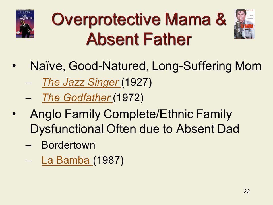 Overprotective Mama & Absent Father