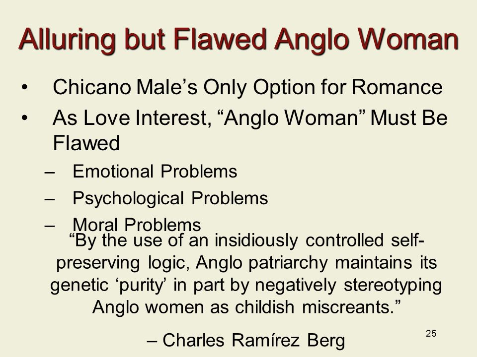 Alluring but Flawed Anglo Woman