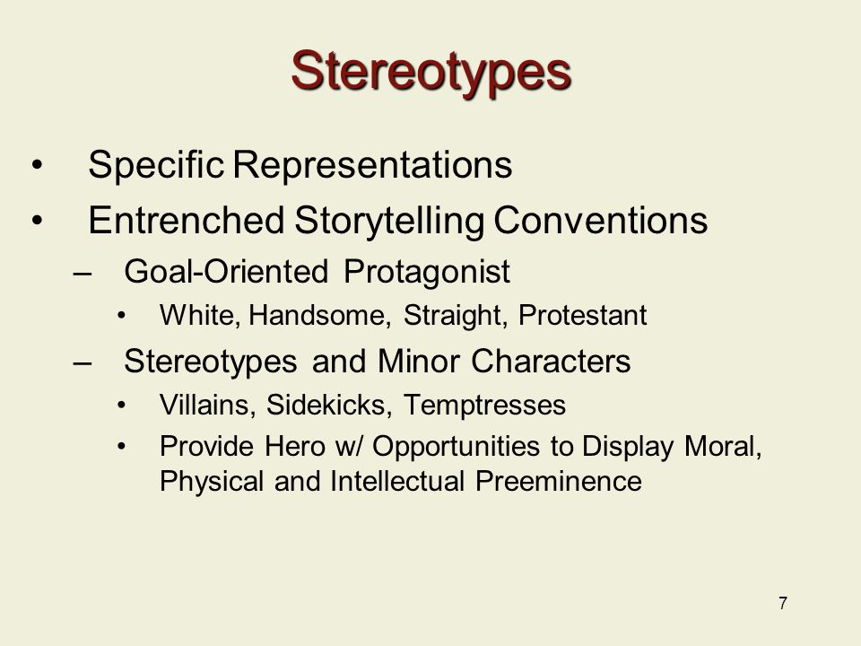 Stereotypes Specific Representations