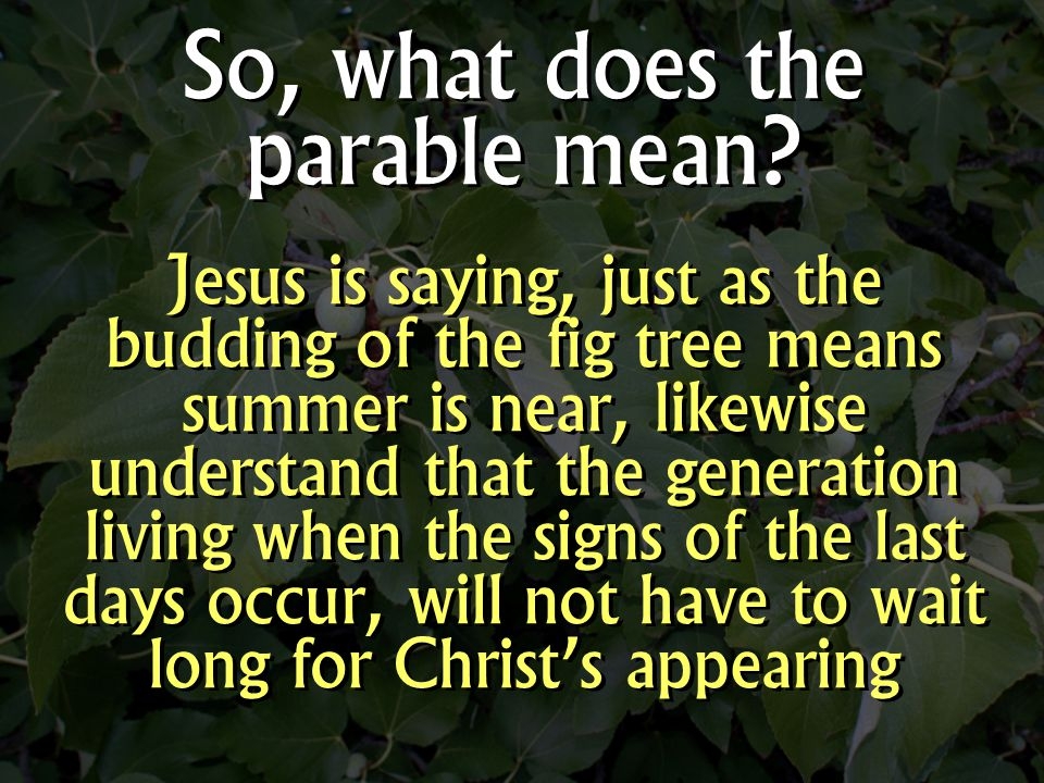 So, what does the parable mean