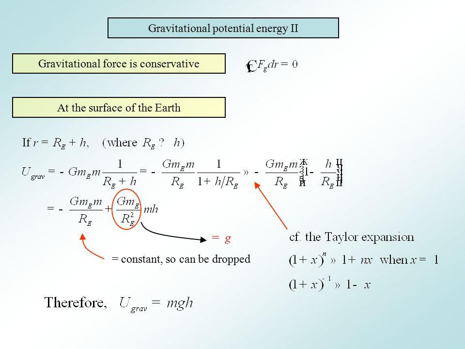 Gravitational potential energy II