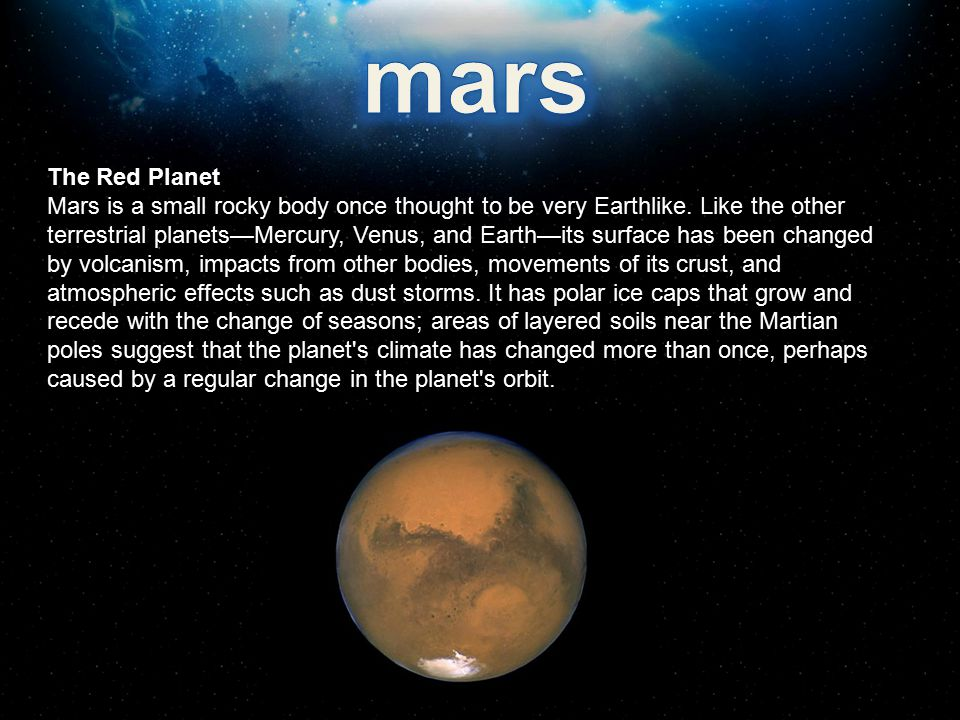 mars The Red Planet.