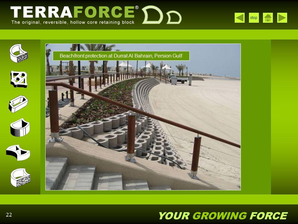 Beachfront protection at Durrat Al Bahrain, Persion Gulf