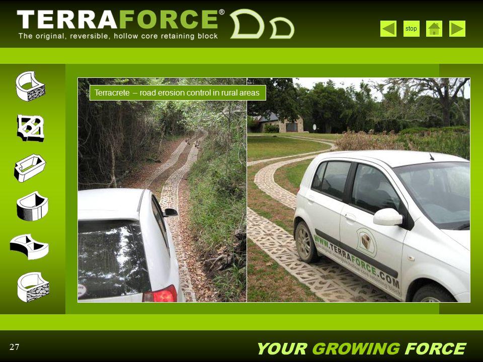 Terracrete – road erosion control in rural areas