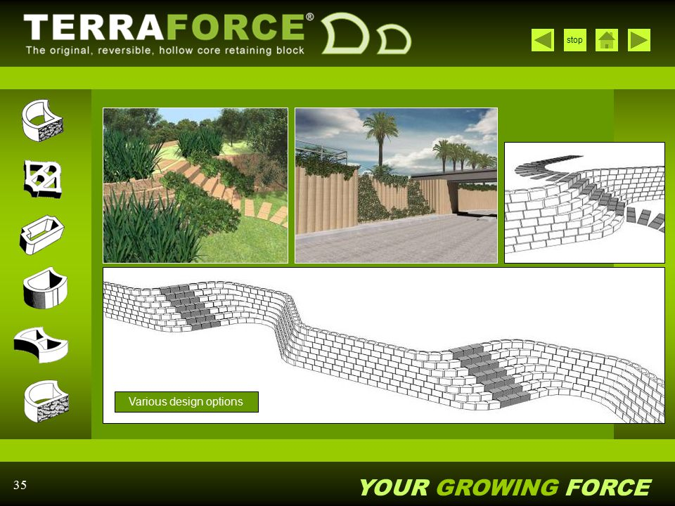 Various design options