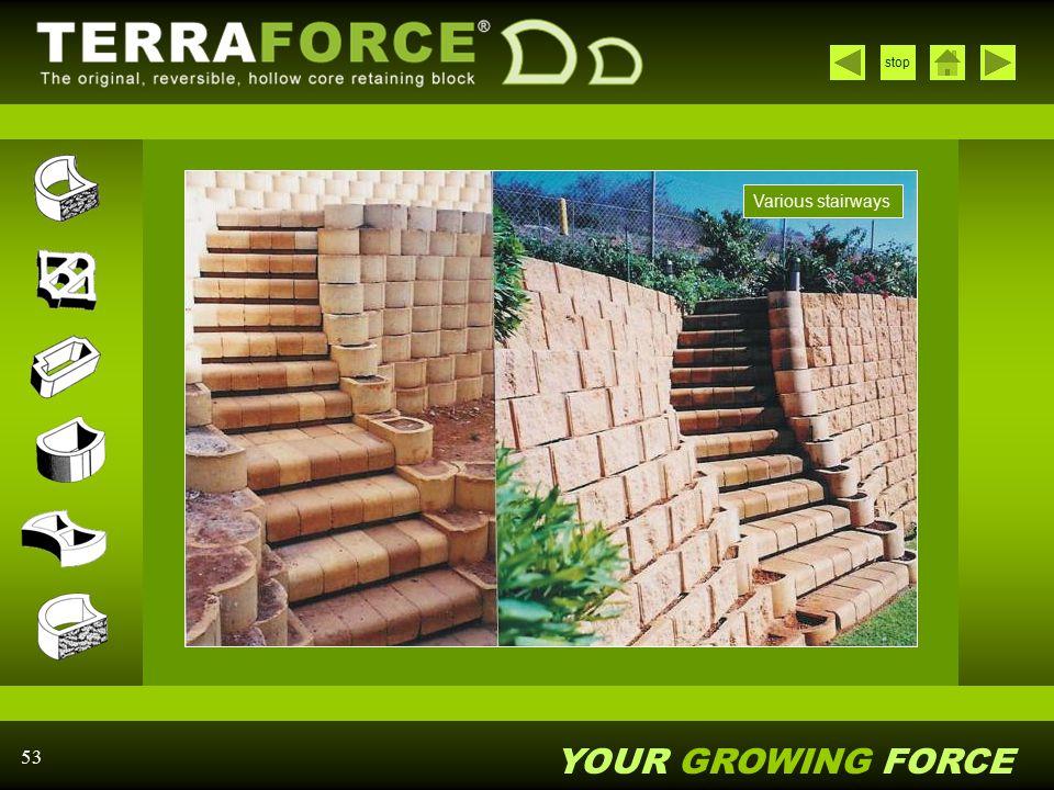 Various stairways