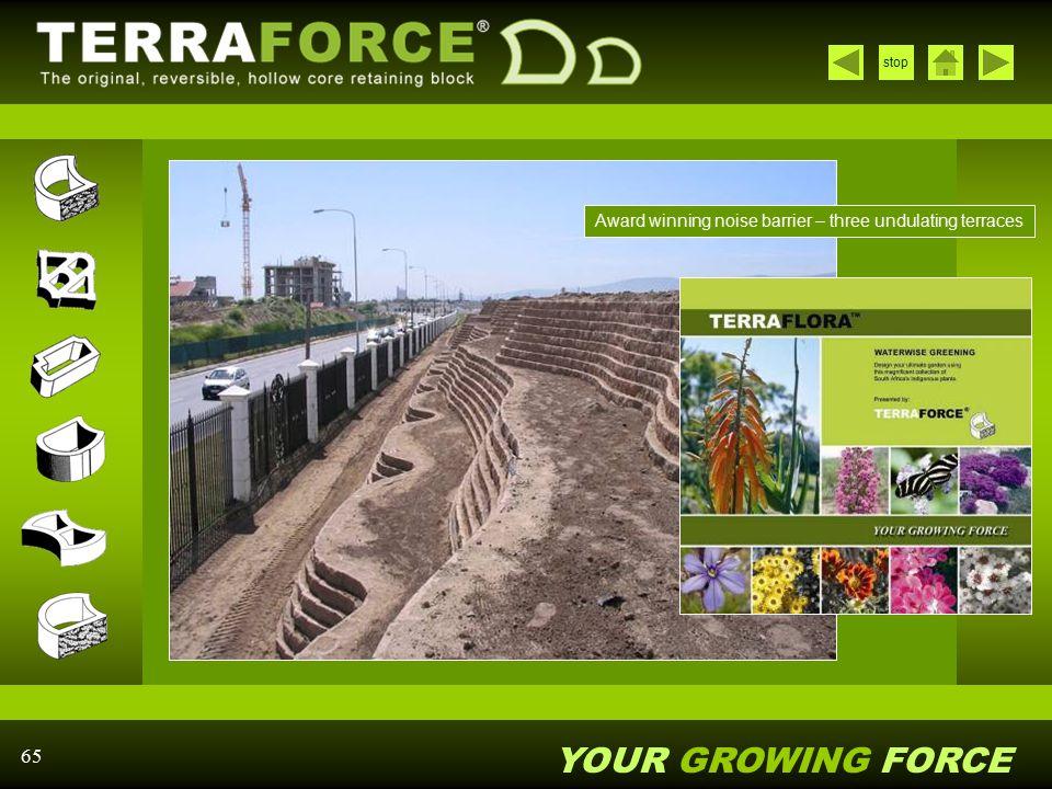 Award winning noise barrier – three undulating terraces