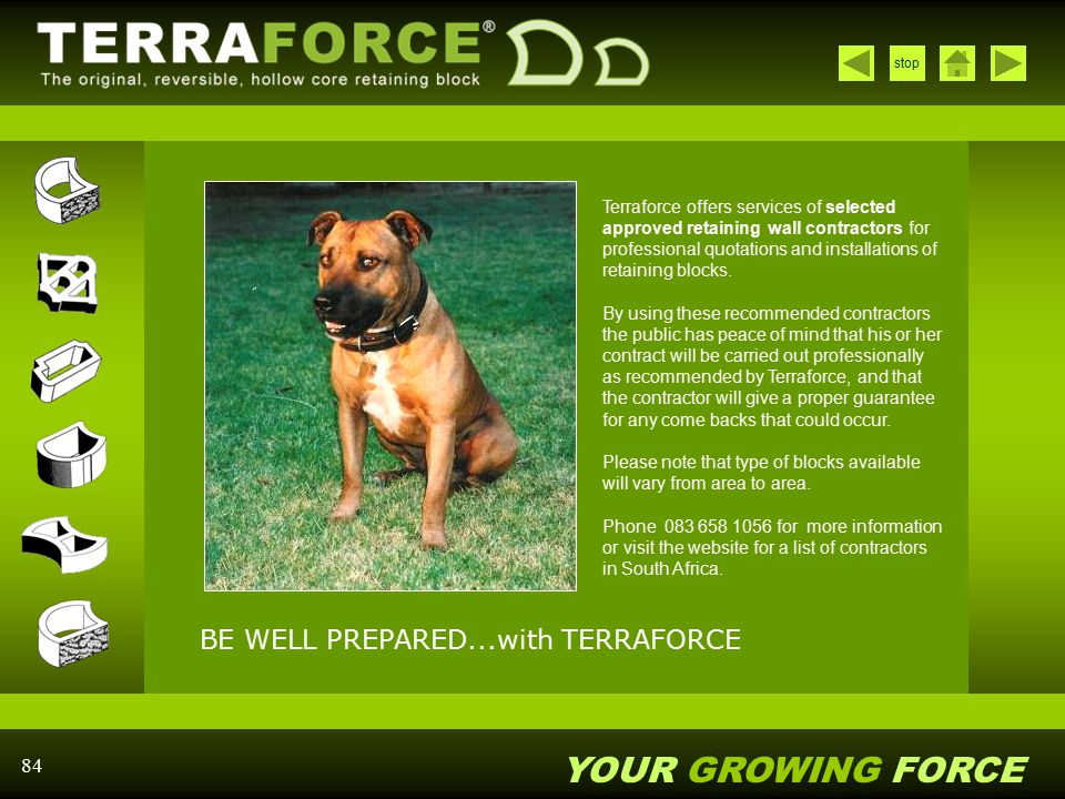 BE WELL PREPARED...with TERRAFORCE