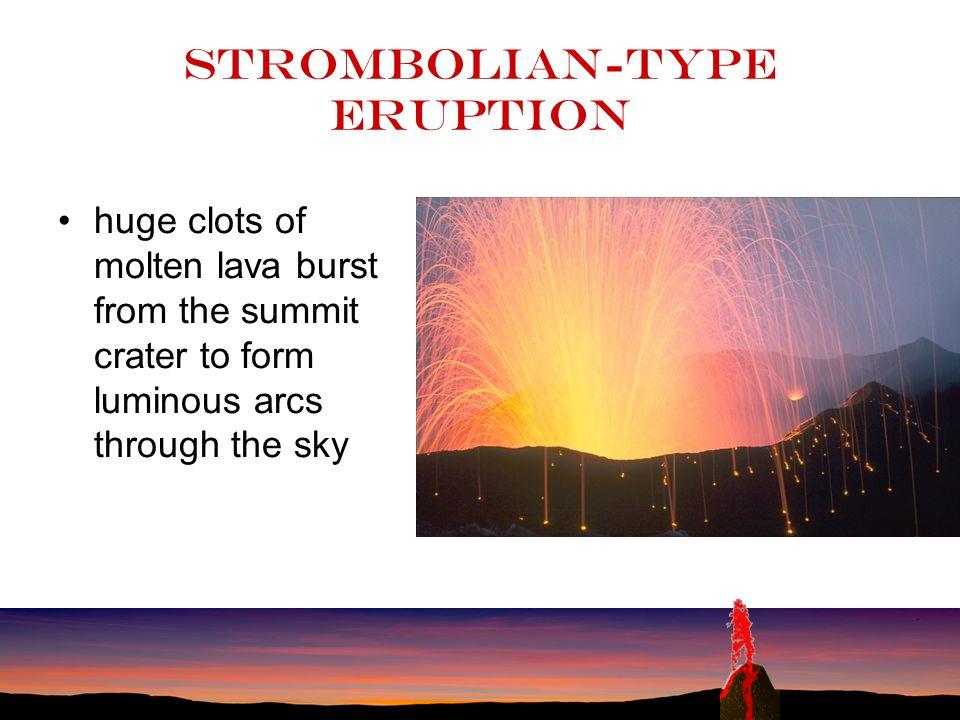 Strombolian-type eruption