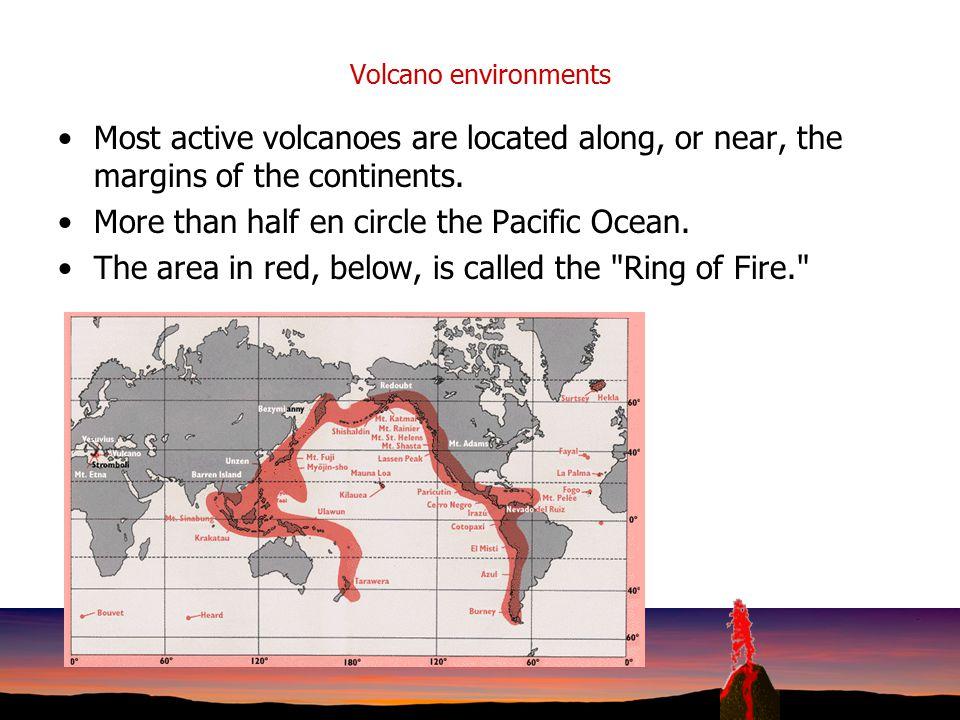 More than half en circle the Pacific Ocean.