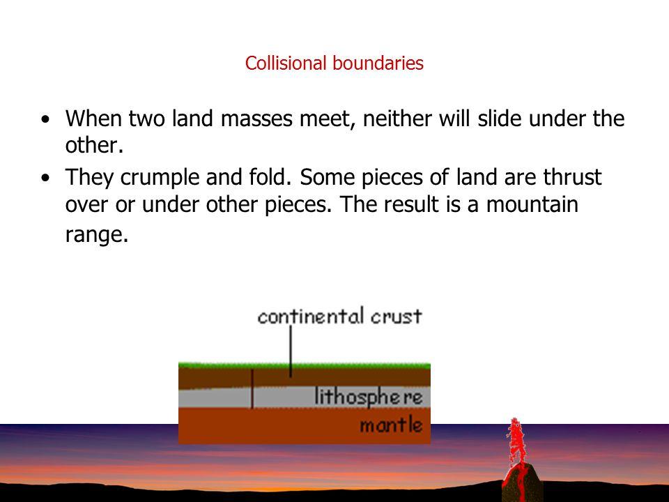 Collisional boundaries