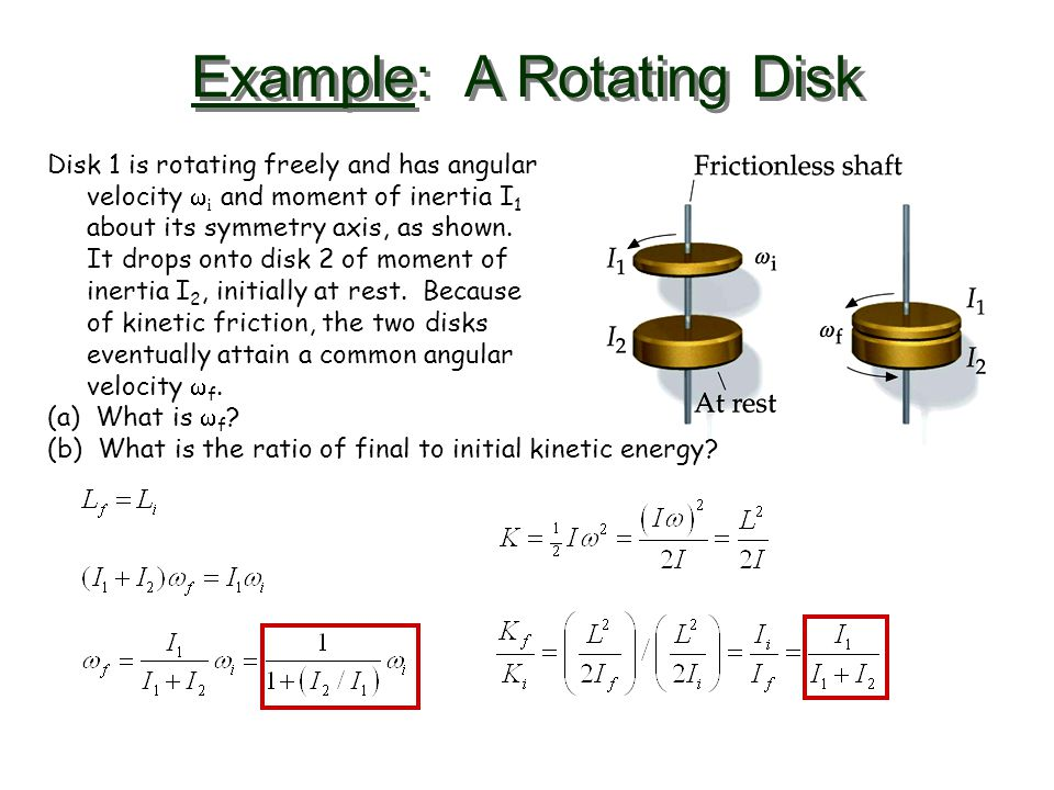 Example: A Rotating Disk