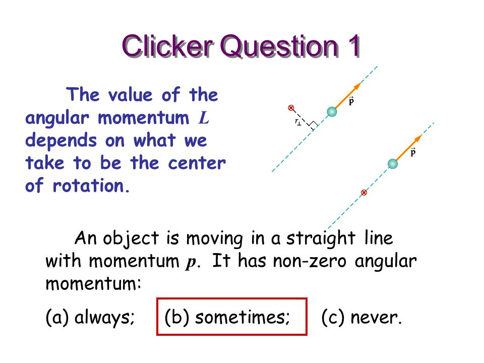 how to find the momentum of an object