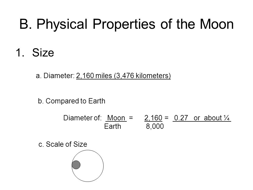 B. Physical Properties of the Moon