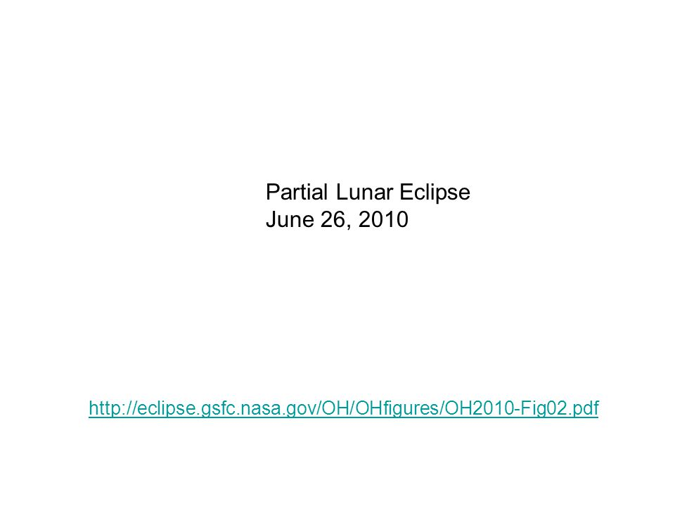 Partial Lunar Eclipse June 26, 2010