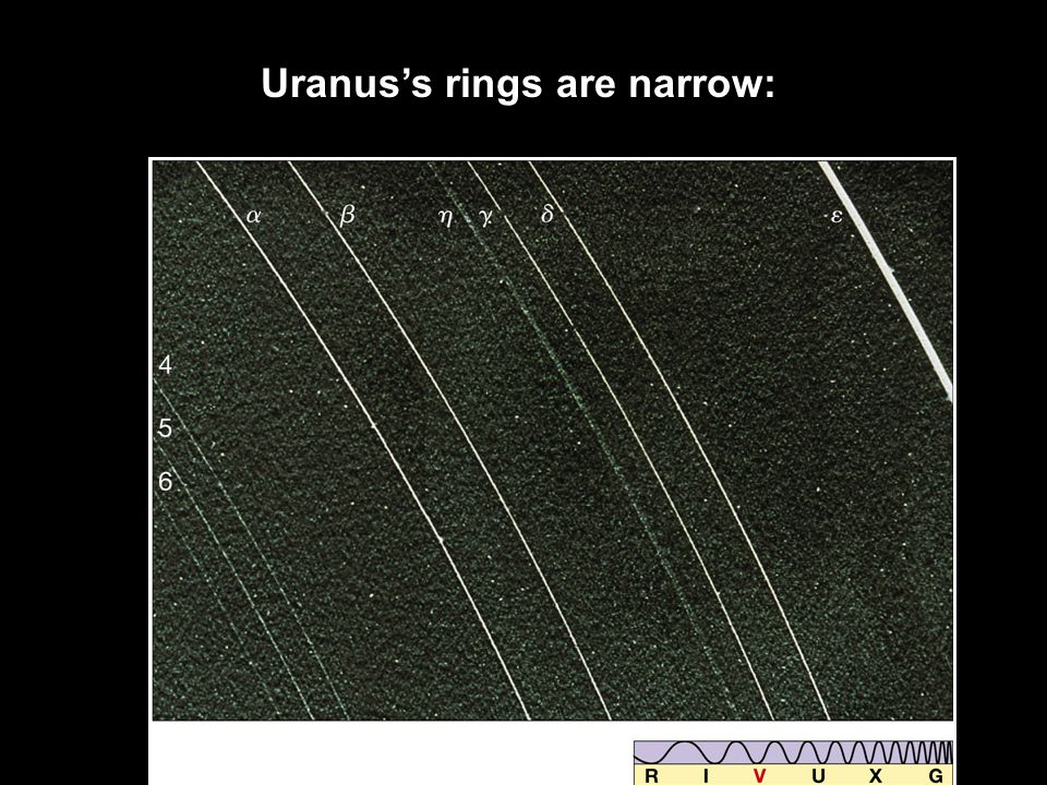 Uranus's rings are narrow: