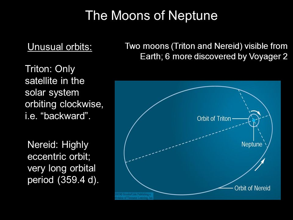 The Moons of Neptune Unusual orbits: