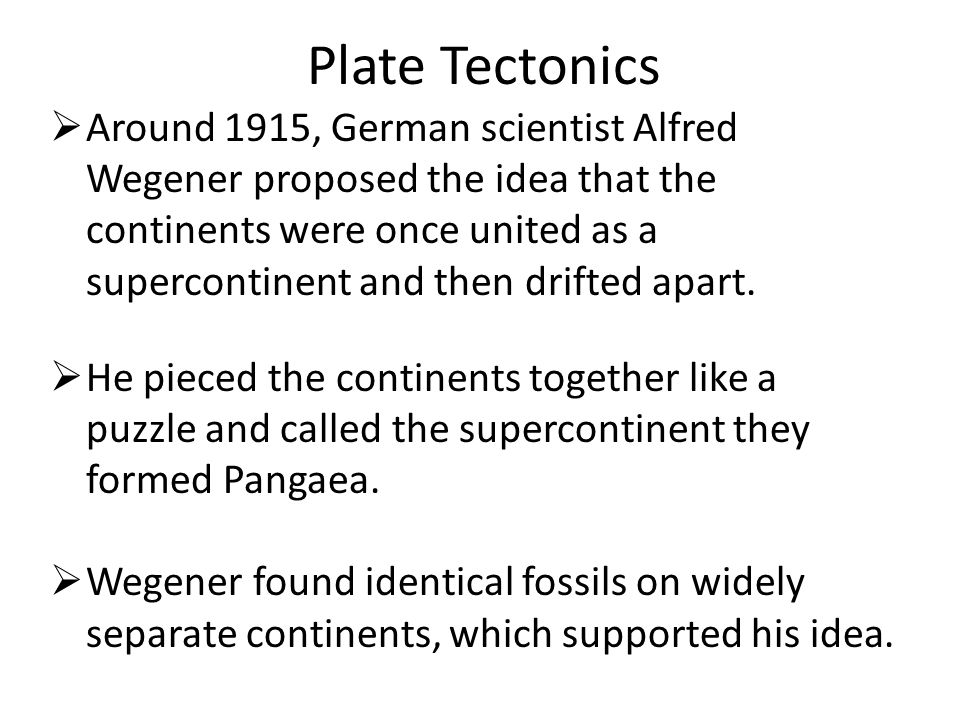 Chapter 21 Plate Tectonics.