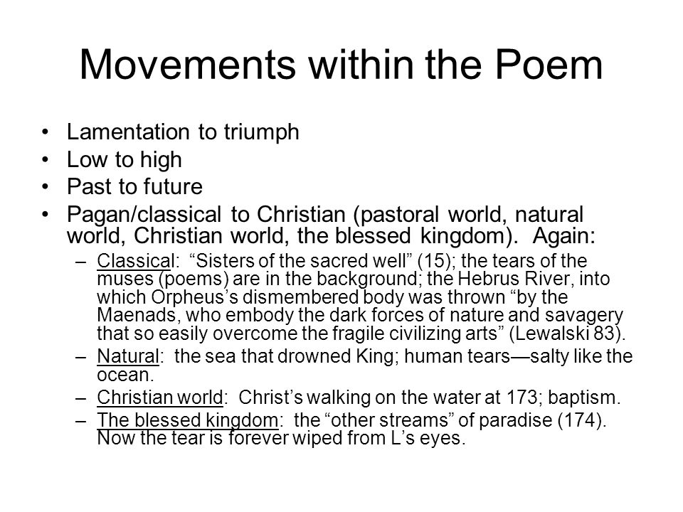 Movements within the Poem