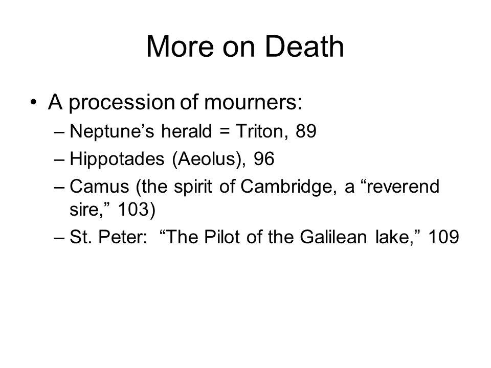 More on Death A procession of mourners: Neptune's herald = Triton, 89
