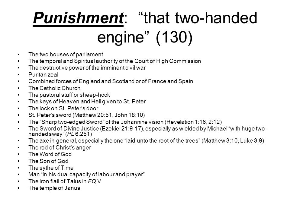 Punishment: that two-handed engine (130)