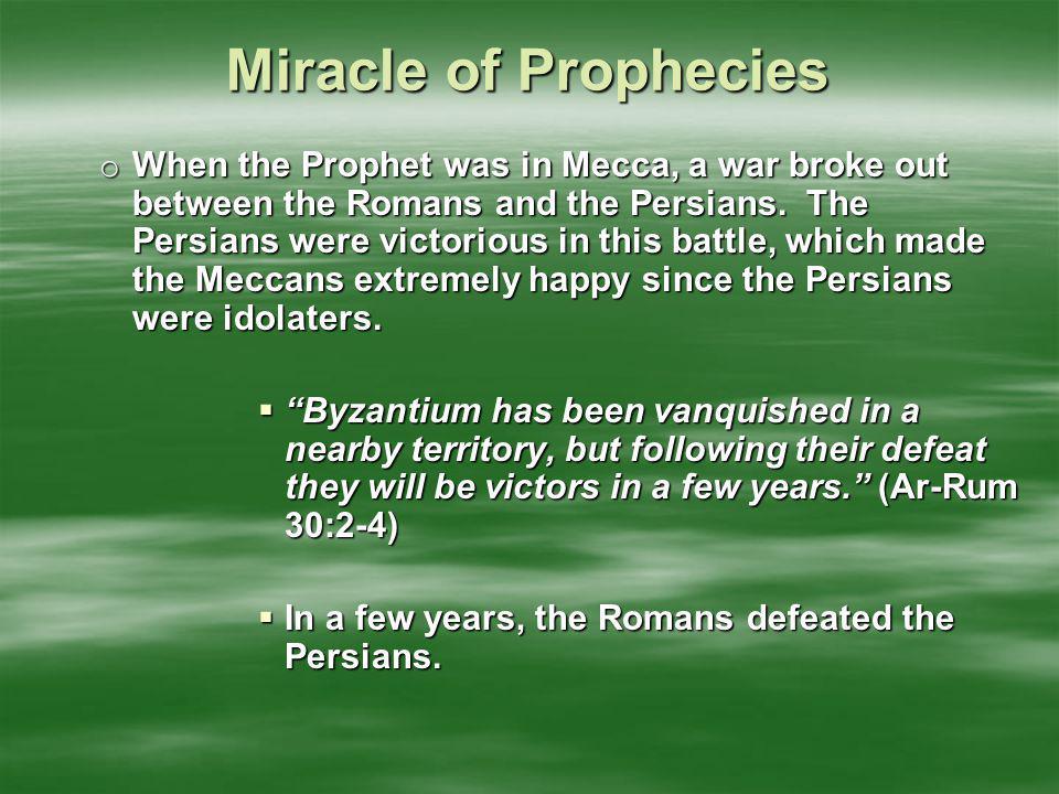 Miracle of Prophecies