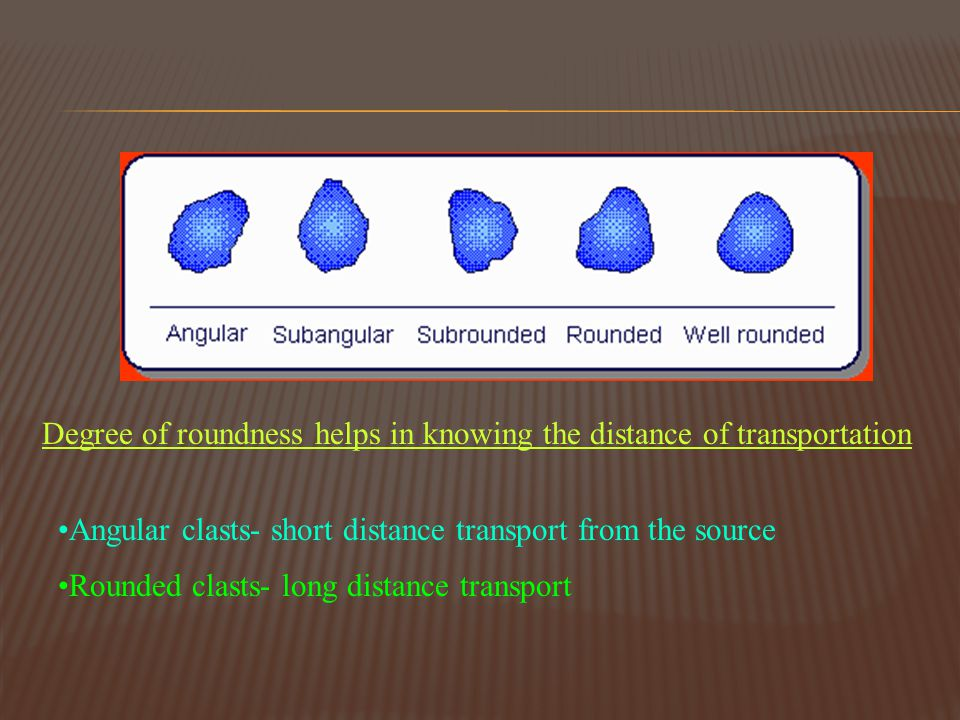 Degree of roundness helps in knowing the distance of transportation