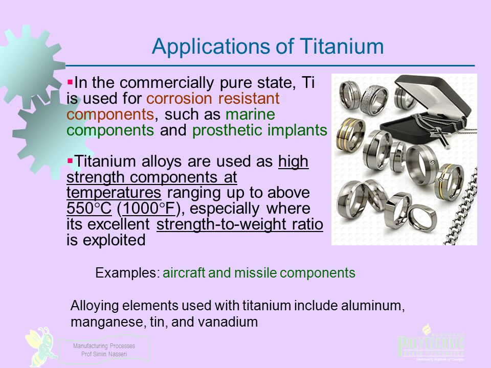 Applications of Titanium