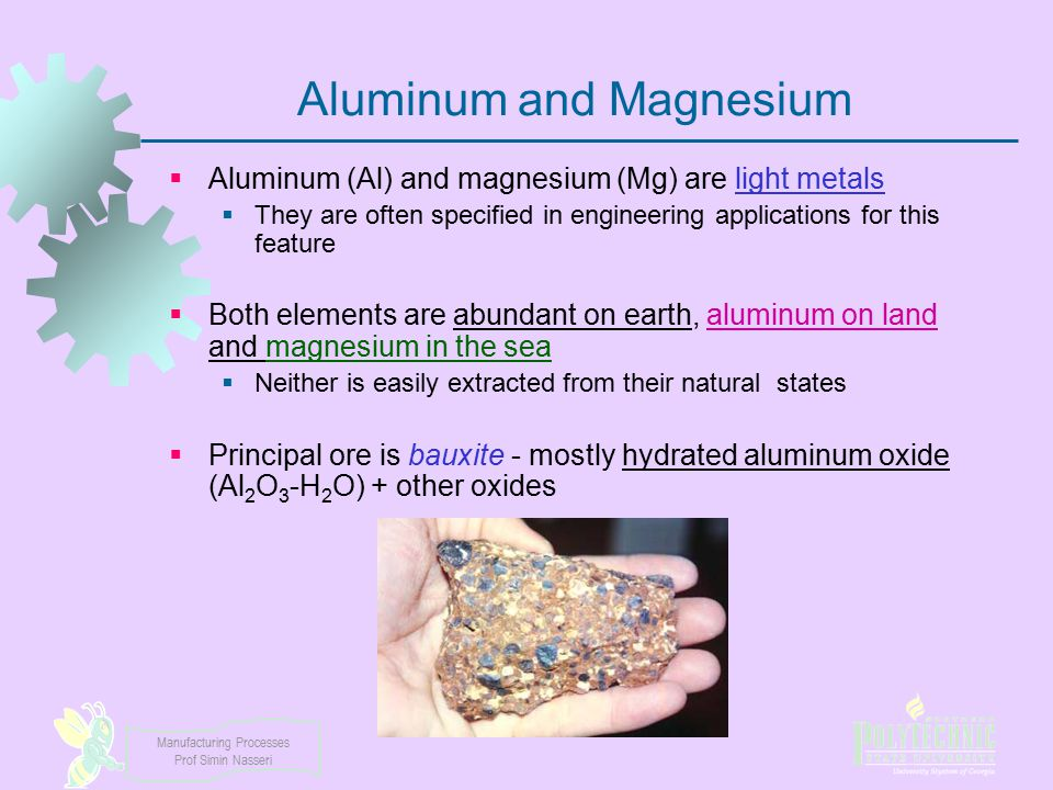 Aluminum and Magnesium