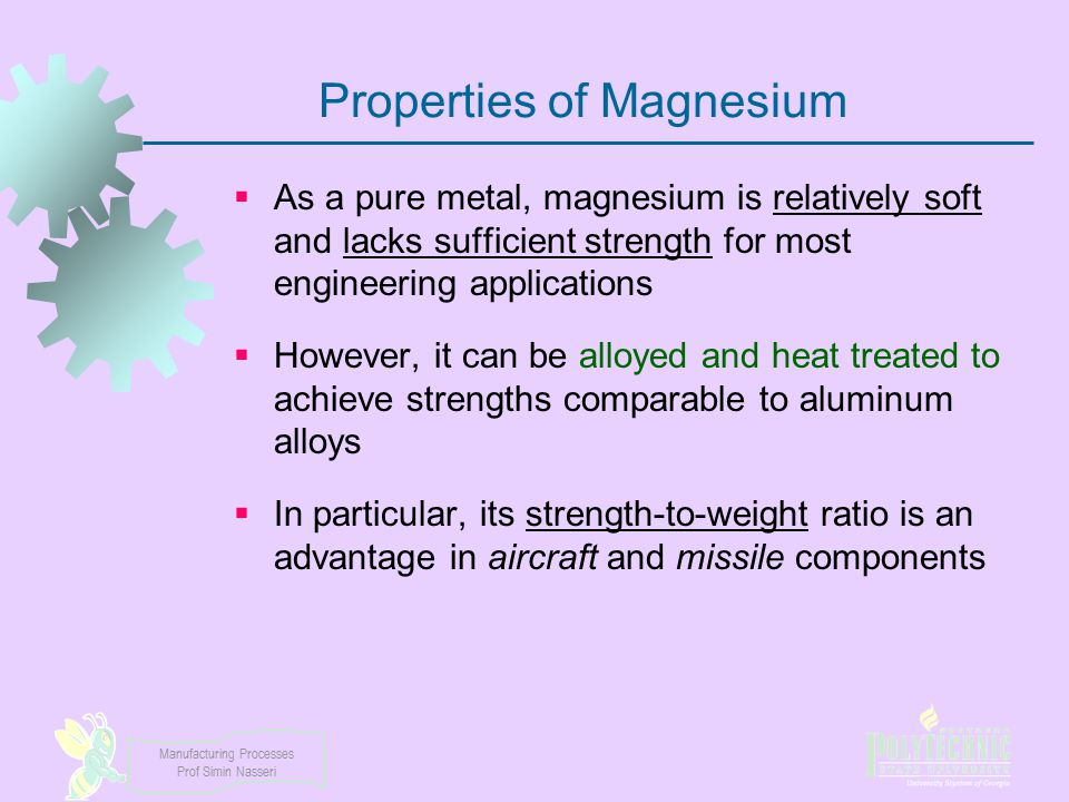 Properties of Magnesium