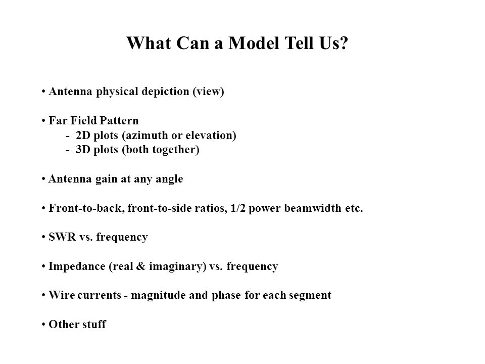 What Can a Model Tell Us Antenna physical depiction (view)