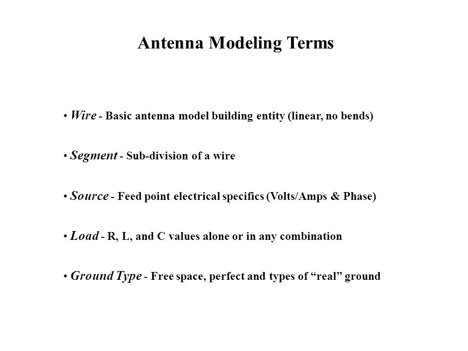 Antenna Modeling Terms