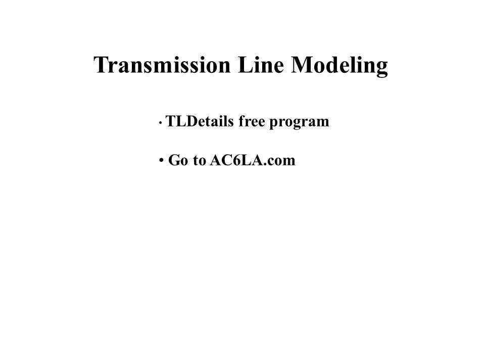 Transmission Line Modeling
