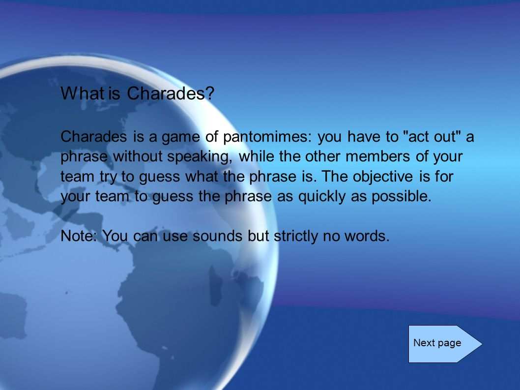 What is Charades