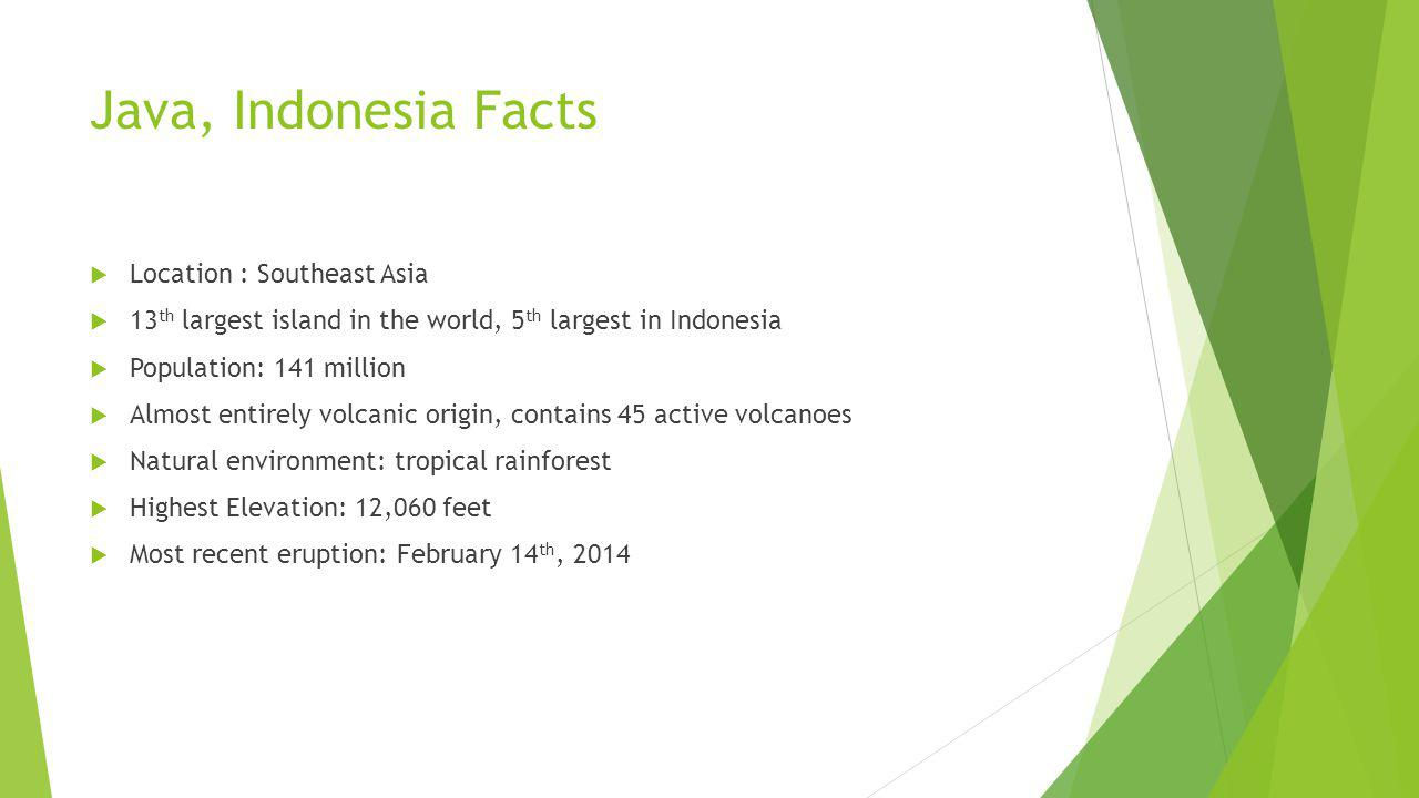 Java, Indonesia Facts Location : Southeast Asia