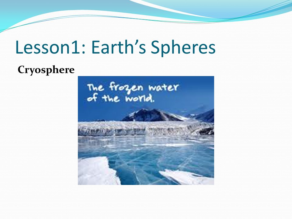 Lesson1: Earth's Spheres