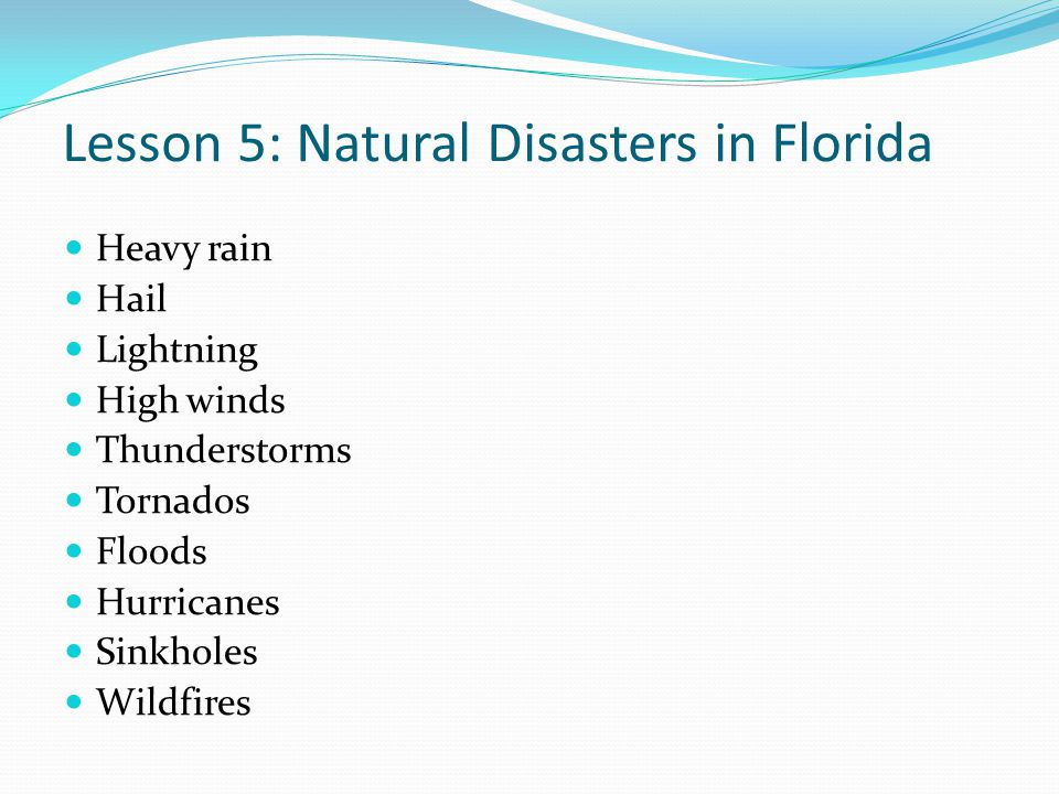 Lesson 5: Natural Disasters in Florida