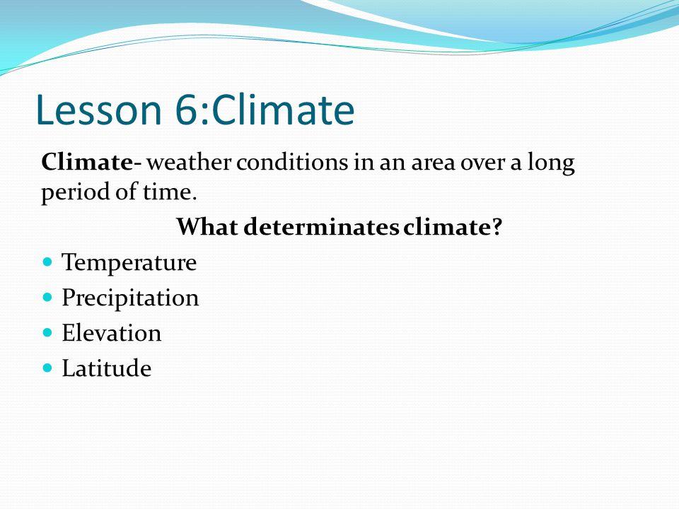 What determinates climate